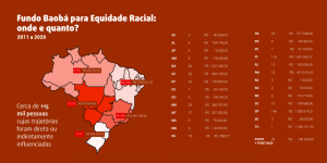 Mapa de doações - Fundo Baobá para Equidade Racial